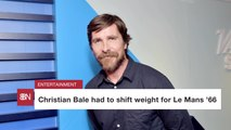 Christian Bale Changes Weight Again