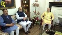 LK Advani Turns 92, Modi & Shah Pay Him A Visit