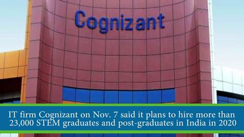 Cognizant to hire over 23,000 students in 2020
