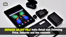 """""""Samsung Galaxy Fold India Retail unit Unboxing: Price, features and box contents."""""""
