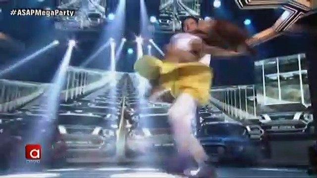 Sarah Lahbati, Dawn Chang and Gerald Anderson in a supah hot dance showdown