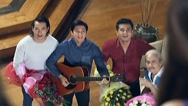 Juan, Oscar at Franco, hinarana sina Norma, Sari at Jamie