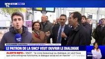 """""""Le dialogue social est en marche"""", Jean-Pierre Farandou, nouveau PDG de la SNCF, veut apaiser les tensions face à la grève des cheminots"""