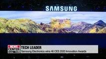 Samsung Electronics wins 46 CES 2020 Innovation Awards