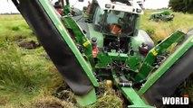 tractor stuck in deep mud - fendt stuck in mud - tractor stuck in mud