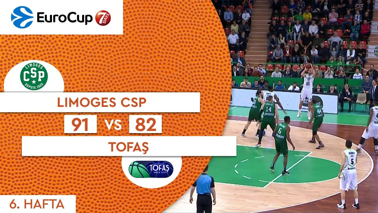 Limoges CSP 91 - 82 Tofaş | Maç Özeti - EuroCup 6. Hafta