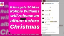 Robbie Williams trollt Justin Bieber