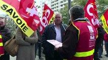 """Farandou en visite à Chambéry, les syndicats demandent """"du concret"""""""