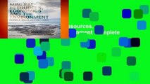 Full Version  Mineral Resources, Economics and the Environment Complete