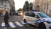 Bruxelles - périmètre de sécurité au Sablon (vidéo Germani)