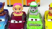 Learn Colors and Vehicle Names with Paw Patrol Toys, Disney Cars, and Wooden Toy Cars-