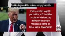 Trump considera designar a cárteles mexicanos como grupos terroristas