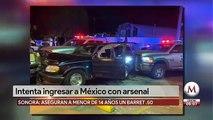 Detienen a joven de 14 años en garita de Nogales; llevaba arsenal