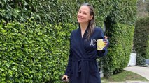 "Jennifer Garner ""Kept it Classy"" in Monogrammed Bathrobe While Sending Daughter to School"