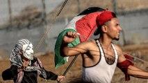 Hundreds of Palestinians protest against Israel's blockade of Gaza