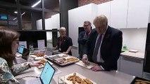 Boris Johnson tastes Iceland's chicken