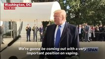 Trump On Vaping: 'We're Going To Have An Age Limit Of 21 Or So'