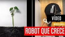 Este robot crece como una planta para colarse en espacios reducidos