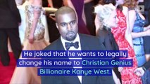 Kanye West Considers Changing Name to 'Christian Genius Billionaire Kanye West'