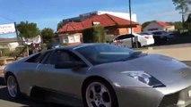 Juste une Lamborghini  à 150.000€ qui tire une remorque pleine de chèvres !