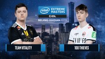 CSGO - 100 Thieves vs. Team Vitality [Mirage] Map 1 - Semifinals - IEM Beijing-Haidian 2019