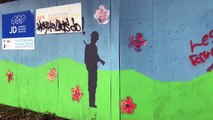Remembrance mural daubed with graffiti