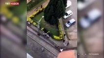 Şili'de 5 motosikletli polis 1 göstericiyi kovaladı