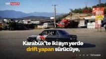 """Karabük'te """"drift"""" yapan sürücüye 10 bin lira ceza"""