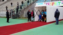 Entree des joueurs escort kids FC FLEURY / EA GUINGUAMP stade Bobin 09/11/2019