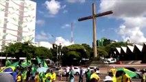 Prisão em segunda instância: protesto é realizado no Centro de Cascavel