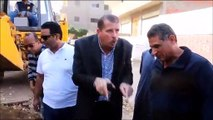 إصلاح هبوط بئر تجميع الصرف بقرية دقلت بكفر الشيخ
