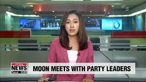 Moon meets with five party leaders to start second half of his presidency