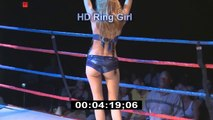 Sexy Card Girl - Boxing - Kick Boxing   HD Stock Footage