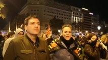 Unas 700 personas se concentraron anoche en Barcelona