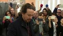 Iglesias tiende la mano al PSOE el día de las elecciones