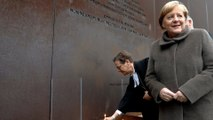 On Berlin Wall anniversary, Merkel urges Europe to defend freedom