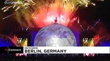 شاهد: ألعاب نارية وعرض ساحر في احتفالات ذكرى سقوط جدار برلين