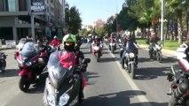 Yüzlerce motosikletliden 10 Kasım etkinliği