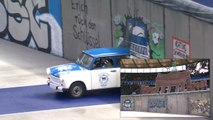 Bundesliga: Incredible Tifo - Hertha Berlin Fans Recreate the Fall of the Berlin Wall