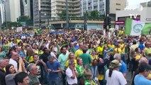Protesto contra a liberdade de Lula em São Paulo