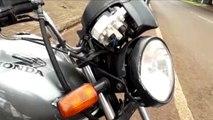 Motociclista é socorrido após colisão na Rua Fortaleza