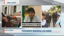 Bolivie : le président Evo Morales annonce sa démission