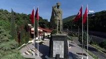 İzmir'in sembolleri arasına giren Atatürk heykeli drone görüntüleri