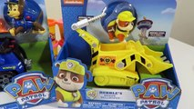 Paw Patrol Nick Jr Toys- Chase Cruiser, Rubble Bulldozer and Marshall Firetruck