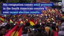 Evo Morales Steps Down as President of Bolivia