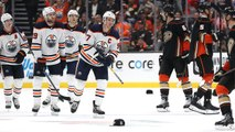 Connor McDavid records hat trick against Ducks