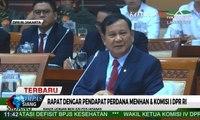Rapat Dengar Pendapat Perdana Menhan & Komisi I DPR Ri, Ini yang Disampaikan Prabowo