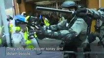 Flashmob protests flare up during Hong Kong rush hour