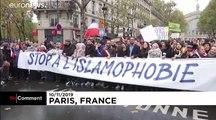 شاهد: مظاهرة في باريس ضد الإسلاموفوبيا وتباينٌ في مواقف النخبة السياسية