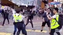 Hong Kong polisi bir protestocuyu daha vurdu